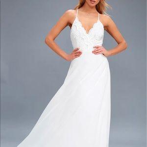 Lulus Madalyn White Lace Maxi Dress